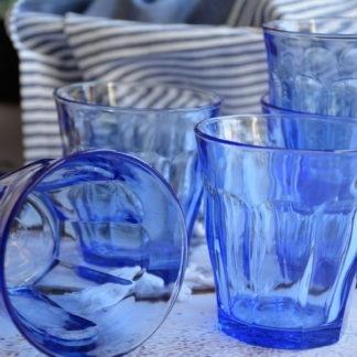 Waterglazen Simpel blauw