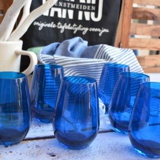 Waterglazen Vina Spots_blauw