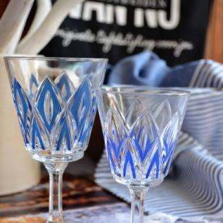 Wijnglazen VMCReims blauw