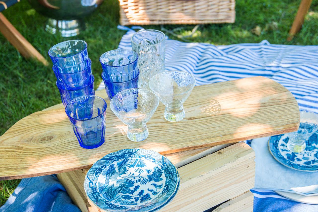 Picknick blauw