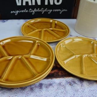 Vintage fondue borden set Gien France