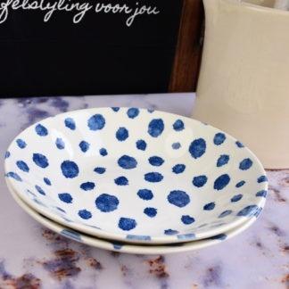 Churchill Inkie Blue Dots servies diepe borden