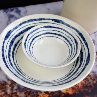 Churchill Inkie Blue Lines servies schalen