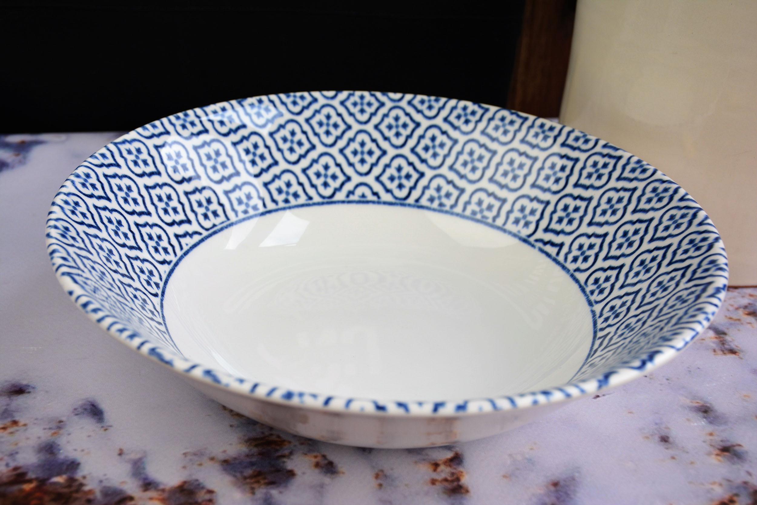 Churchill Inkie Blue Tuscany servies schalen groot