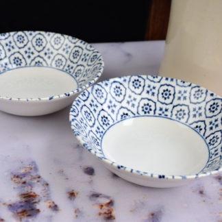 Churchill Inkie Blue Tuscany servies schalen klein