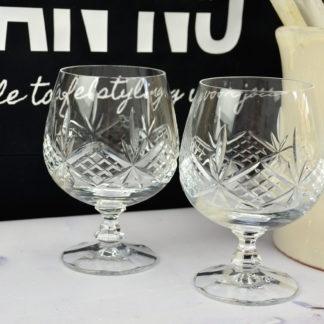 Kristallen cognac glazen